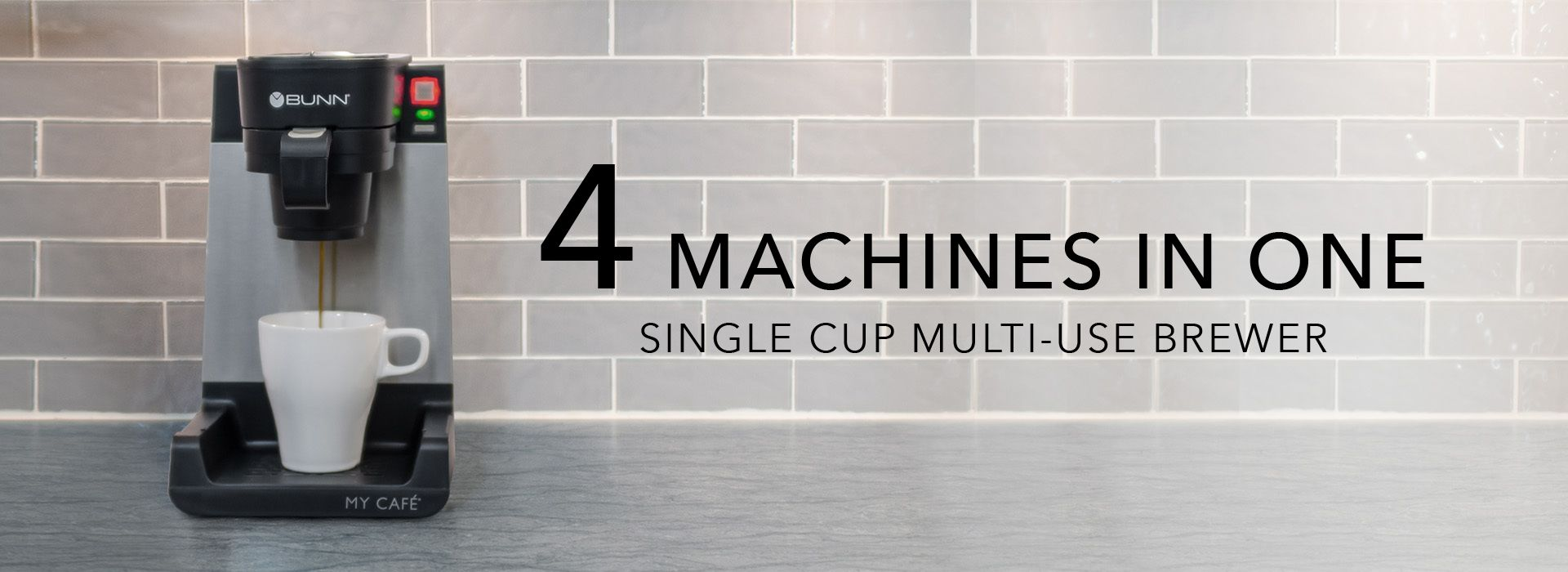 4 Machines in One - Single Cup Multi-Use Brewer