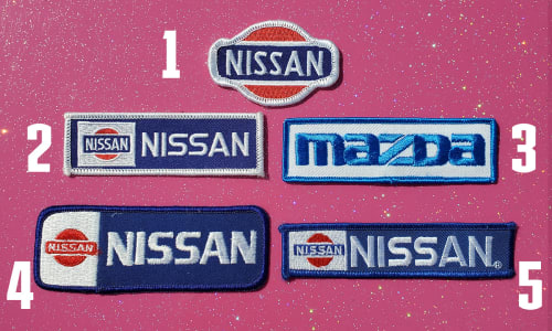 Vintage Car Make Patches Image