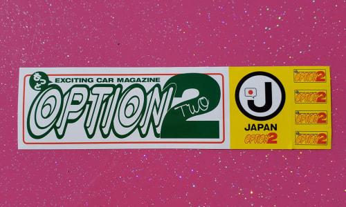 Option Sticker Sheet Green/White w/Yellow minis Image
