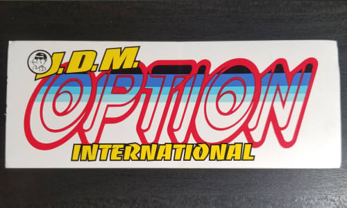 Option International Sticker Image