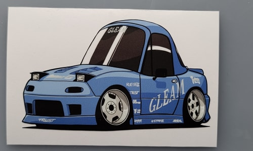 GLEAM Miata Digital Chibi Sticker Image