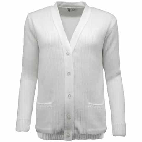 Women's Ribbed Knit Bowls Cardigan