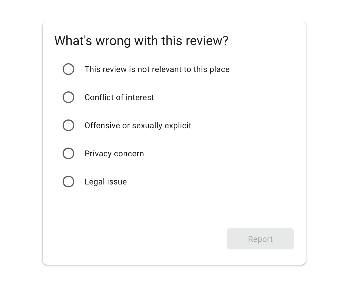 Google Delete Reviews Reasons
