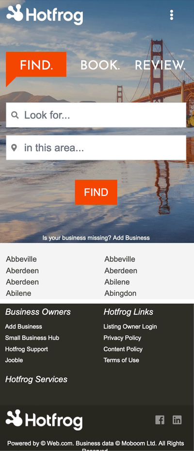 HotFrog Business Directory
