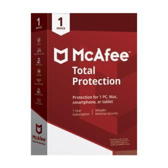 Renew Mcafee Total Protection 1 User 1 Year