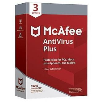 McAfee Antivirus Plus 3 Users 1 Year (Single Key)