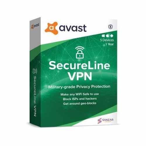 Avast Secureline VPN for 5 multi devices 1 year