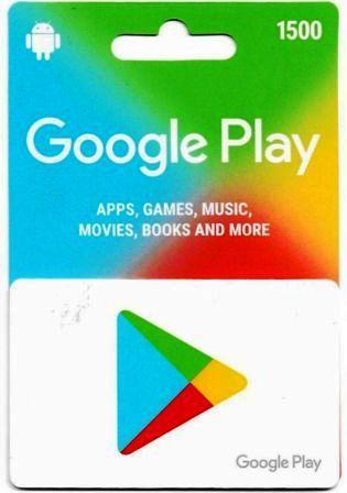 Google Play Card Rs 1500