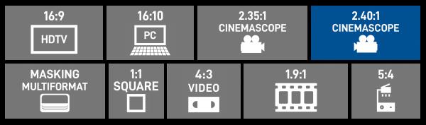2.40:1 Cinemascope Format