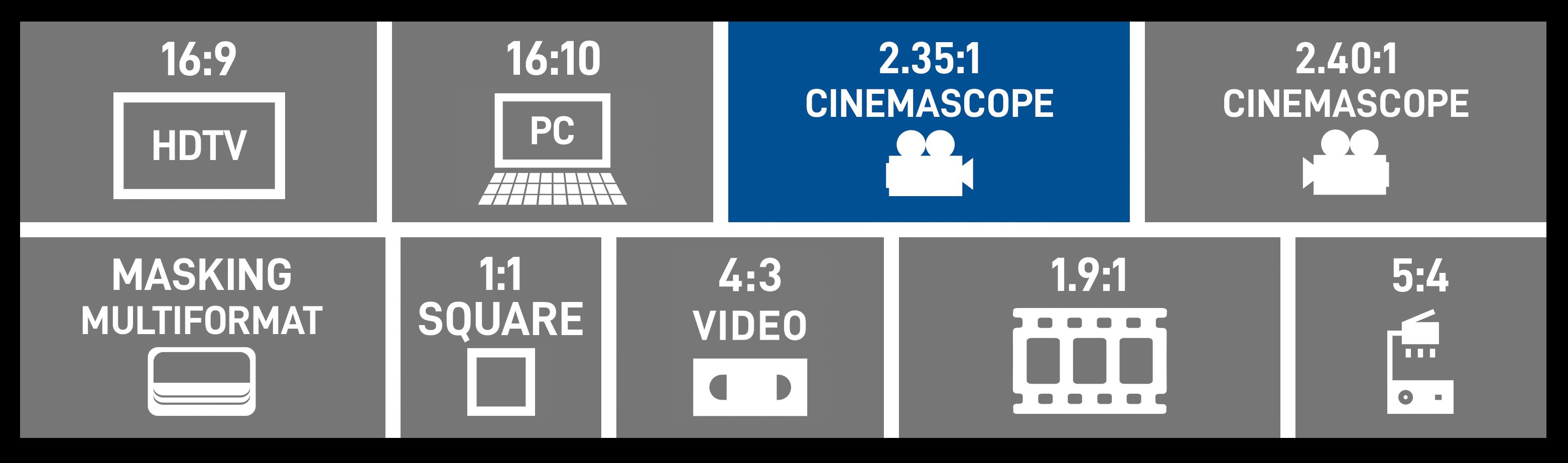 2.35:1 Cinemascope Format