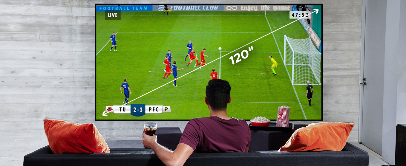 An Immersive Display up to 120 inches