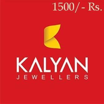 Kalyan Jewellers Gift Card 1500