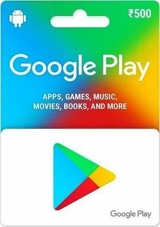 Google Play Card Rs. 500 (India)