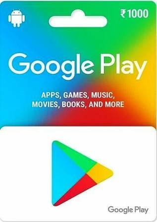 Google Play Card Rs. 1000 (India)