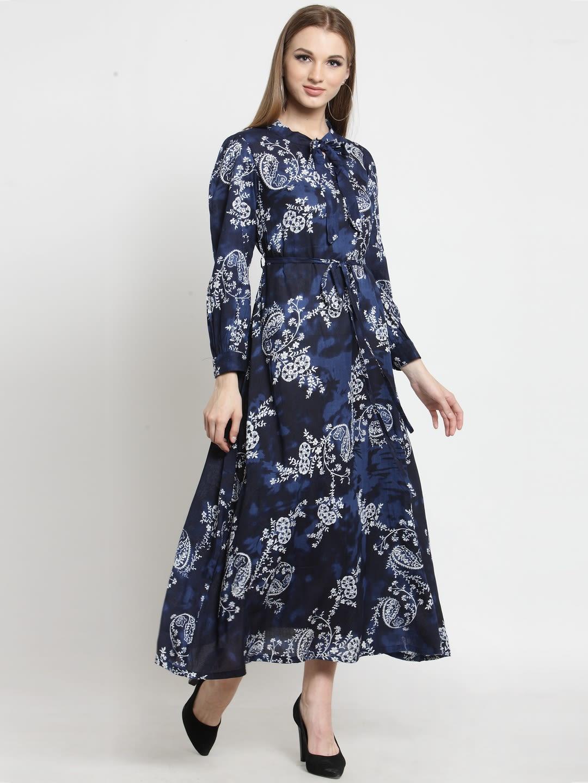 3b8a9fead24 Castle Indigo Printed Maxi Dress - Dresses