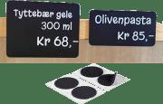 Borrelås - Matvaremerking rund hvit 13mm, han/hun 21/pk