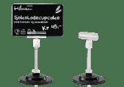 Kortholder - Matvaremerking, stor stang på magnetfot, Korthøyde 80 mm, 25/pk