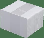 Plastkort - Hvite 0,30 mm 100/pk