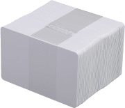 Plastkort - Hvite standard til matvaremerking 100/pk