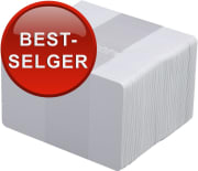 Plastkort - Hvite standard, 0,76mm, 100/pk
