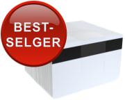 Plastkort - Hvite plastkort, 0,76mm, HiCo magnetstripe oe2750, 100/pk