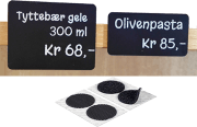 Borrelås - Matvaremerking rund svart 13mm, han/hun 20/pk