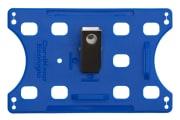 Kortholder - Cardkeep Ecologic - Metallklips, liggende, blå