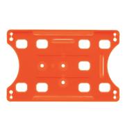 Kortholder - CardKeep Ecologic, orange, for stående og liggende kort.