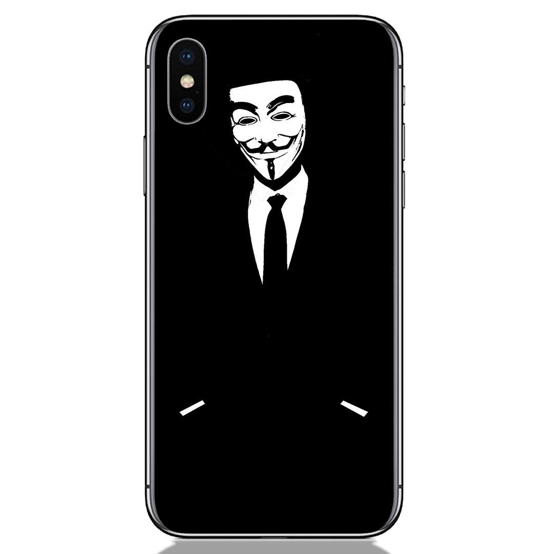Black Anonymous Apple iPhone X Back Cover