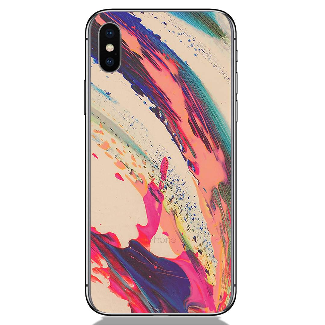 Colorful Paint Spread Apple iPhone X Back Cover