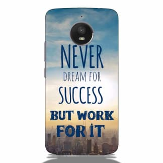 Success Quote Motorola G5s Back Cover