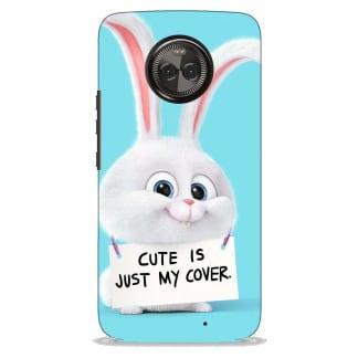 Cute Rabbit Quote Motorola X4 Back Cover