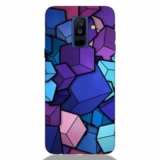 Colorful Cubes Samsung A6 Plus 2018 Back Cover
