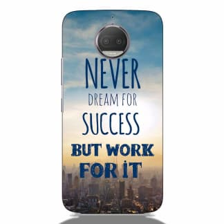 Success Quote Motorola G5s Plus Back Cover