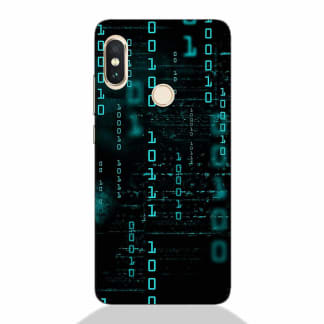 Falling Matrix code Redmi Note 5 Pro Back Cover