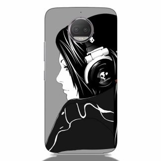 Music Lovers Girl Motorola G5s Plus Back Cover