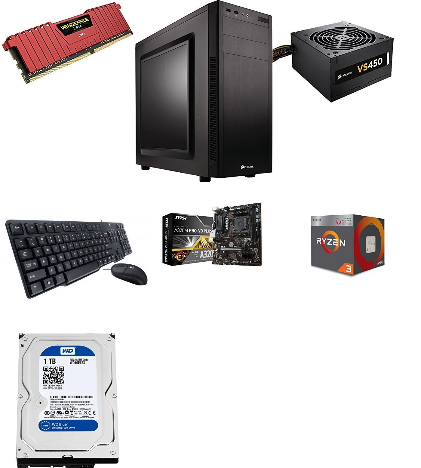 Best Budget Gaming PC build under Rs 30000 with AMD Vega 8