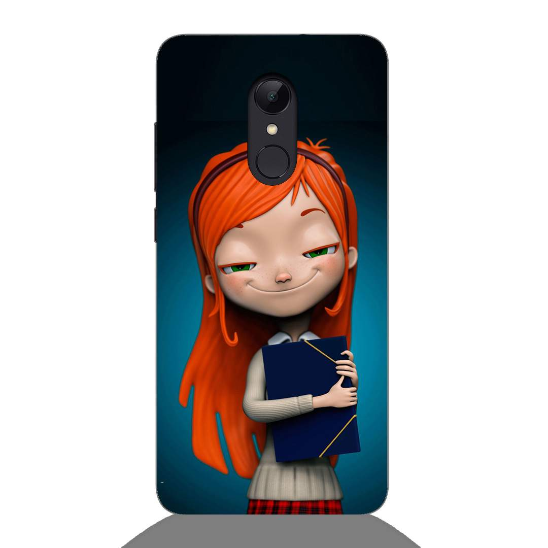 Cute Nerd Girl Xiaomi Redmi 5 Back Cover