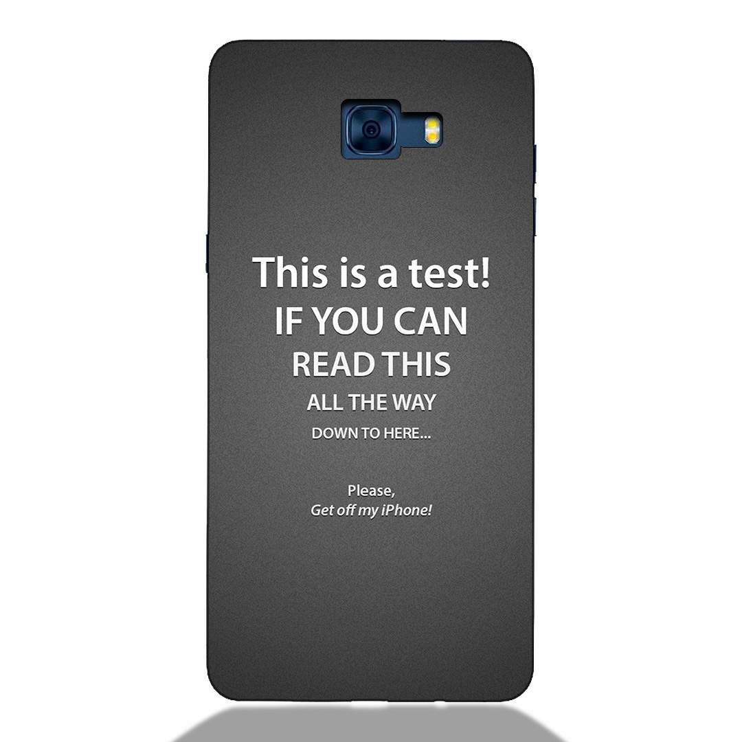 Get Off My Phone Samsung C7 Pro Back Cover