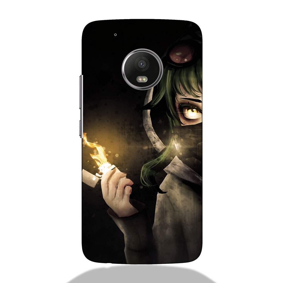 Fire Girl Motorola G5 Plus Back Cover
