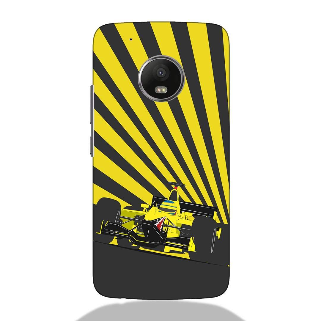 F1 Racing Car Motorola G5 Plus Back Cover