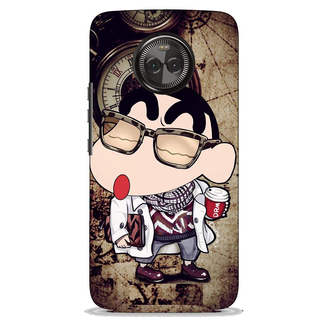 Nerd Shinchan Motorola X4 Back Cover