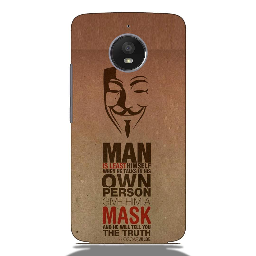 Anonymous Quote Motorola E4 Plus Back Cover
