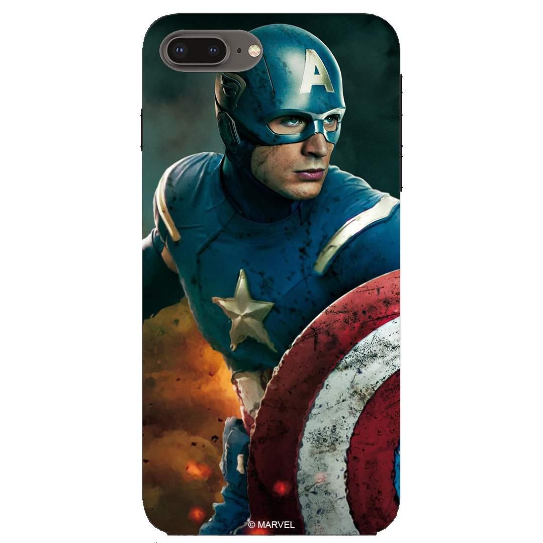 Captain America iPhone 8 Plus Back Cover Case