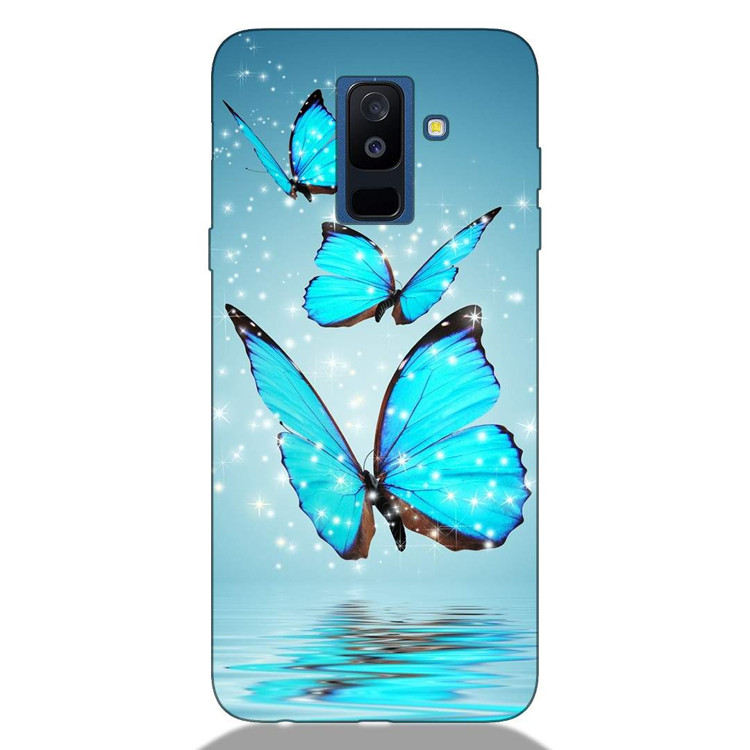Sparking Butterfly Samsung A6 Plus 2018 Back Cover