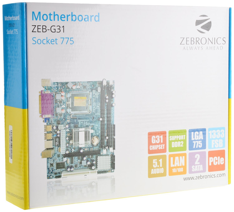 Best CPU or budget PC build under Rs 10000 |2018| - Zebronics Motherboard ZEB-G31 Socket 775