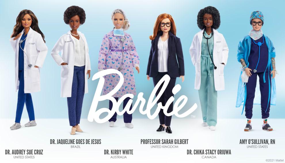 Foto das bonecas homenageadas na linha, inclusive, a de Jaqueline Goes.