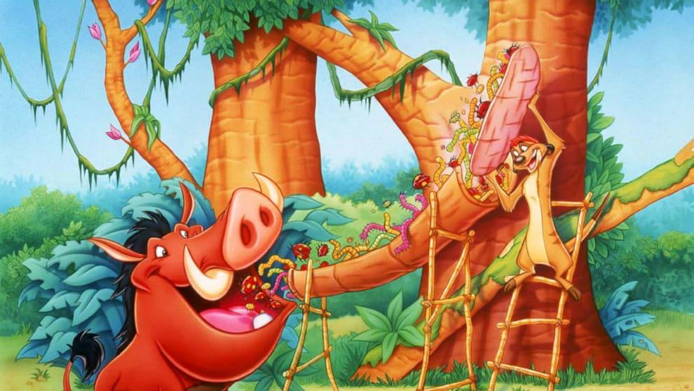 Cena do desenho Timão e Pumba