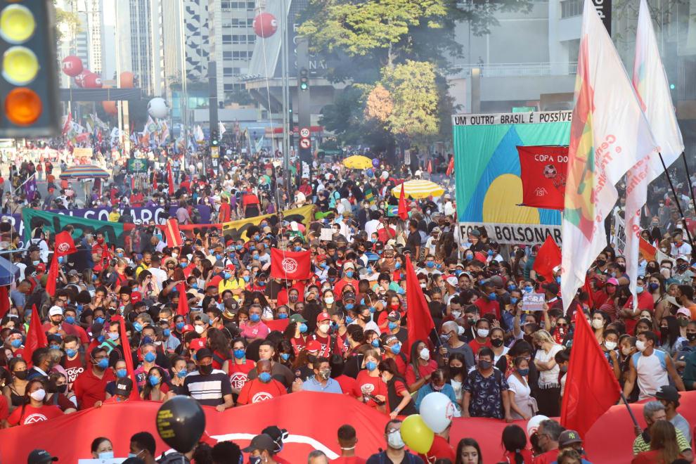 Protesto contra bolsonaro na Avenida Paulista