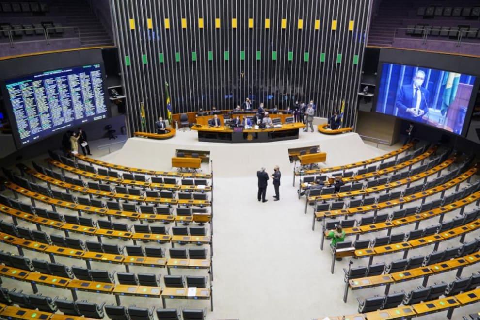 Congresso vazio durante Deliberação do Projeto de Lei do Congresso Nacional n° 3, de 2021- Lei de Diretrizes Orçamentárias (LDO)